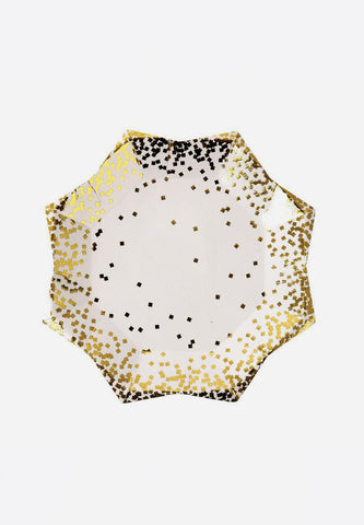 Gold Confetti Plates Small
