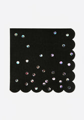 Black Holographic Napkins Large