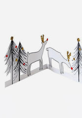 Reindeer & Tree Concertina Card