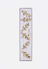 Gold Pine Glitter Mini Garland