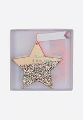 Wooden Glitter Star Gift Tags