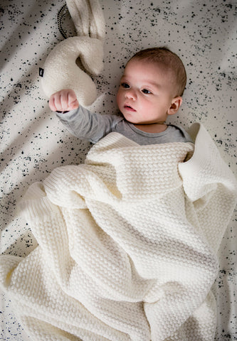Soft Knitted Blanket Offwhite