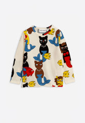 Cat Mermaid Long Sleeve T-Shirt