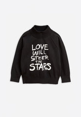 Love Knitted Sweater Black