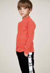 Stripe Rib Turtleneck T-Shirt