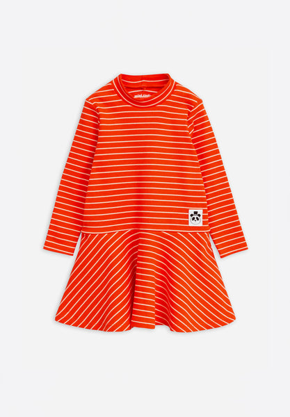 Stripe Rib Turtleneck Dress