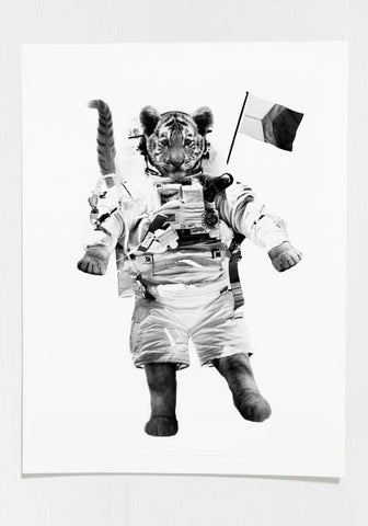 Tiger On The Moon Poster