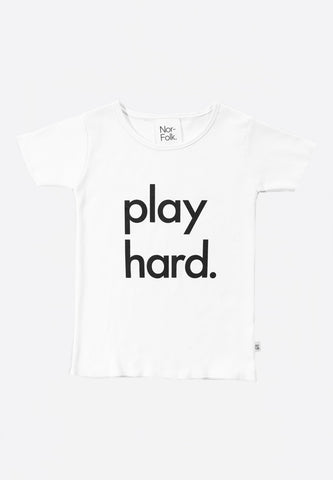 Tee Play Hard White