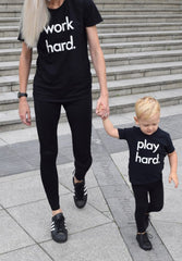 Adult Tee Work Hard Black