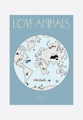 Love Animals The World Poster