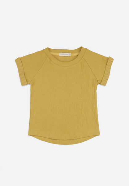 Textured Raglan Top S/S