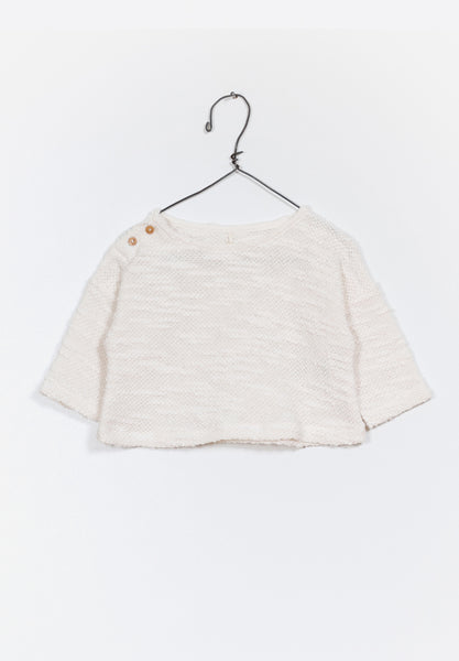 Baby Fleece Sweater Natural