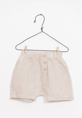 Baby Linen Shorts Sand
