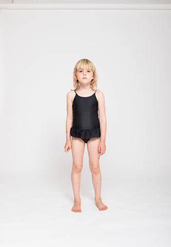 Ruffles Swimsuit Black