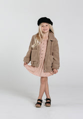 Shearling Overcoat Taupe