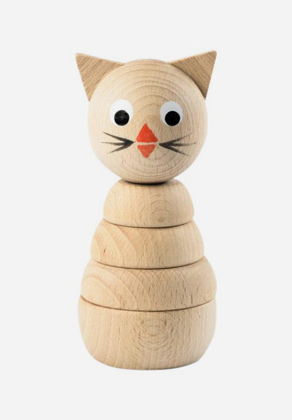 Camilla Wooden Kitten Stacking Toy