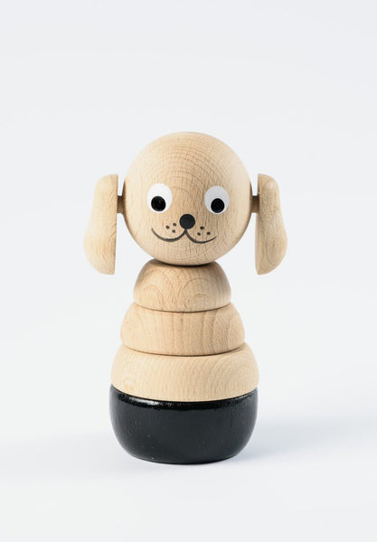 Frederick Wooden Dog Stacking Toy