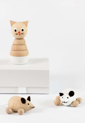 Martha & Theodore Pair Of Wooden Mice