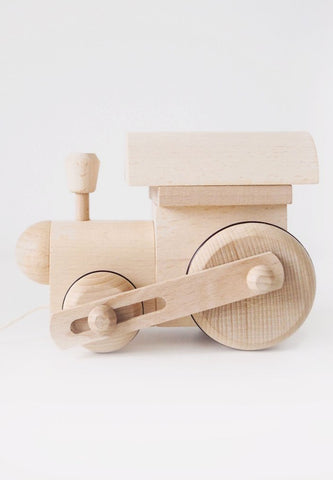 Natural Wooden Train