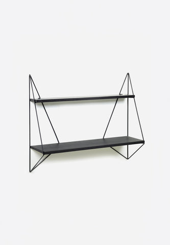 Butterfly Shelf Single Black Wood