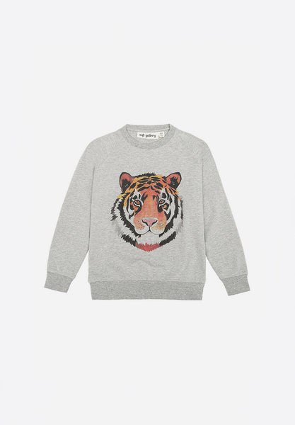 Chaz Light Sweatshirt Tigerart Grey Melange