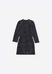 Janel Dress AOP Wings Outer Space