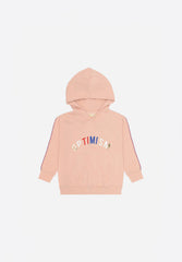 Bowie Hoodie Optimistic Emb. Rose Cloud