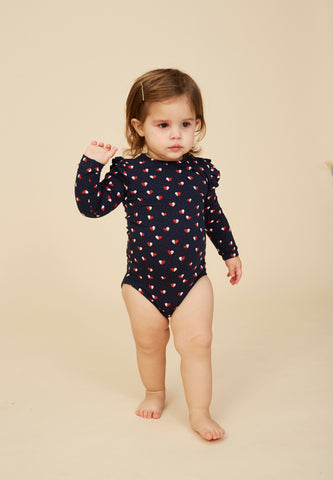 Fifi Body AOP Heartfly Navy Blazer