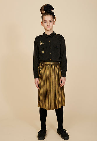 Mandy Skirt Black Gold