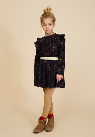 Maria Skirt AOP Sprinkle Black Iris