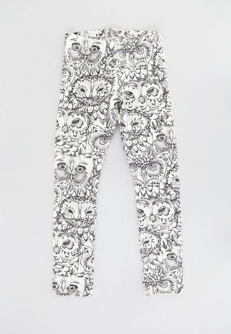 Paula Cream Owl Legging