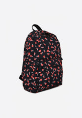 Ladybugs Print Backpack Black