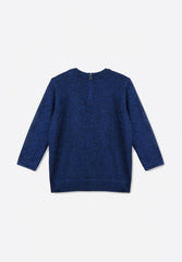 Blue Lurex Jumper