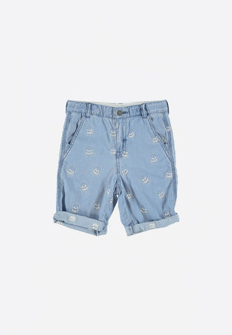 Lucas Shorts Embroided Skulls
