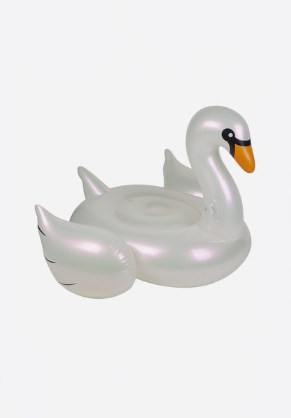 Luxe Ride-On Float Pearl Swan
