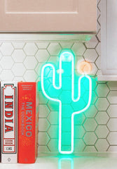 Cactus Neon Wall Light Small