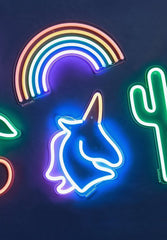 Rainbow Neon Wall Light Small