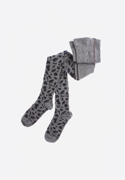 Animal Print Tights Grey