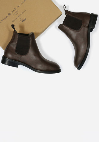 Waterproof Chelsea Boots Dark Brown
