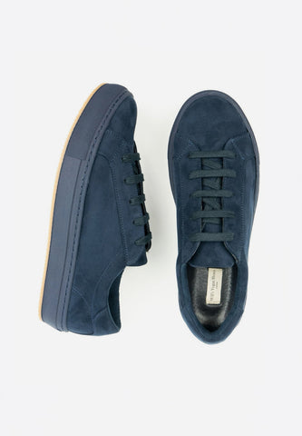 Colour Sneakers Blue Navy Vegan Suede