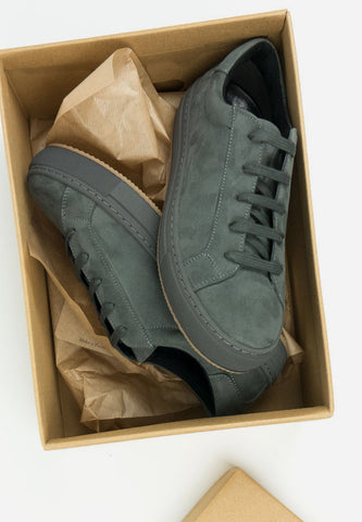 Colour Sneakers Grey Vegan Suede