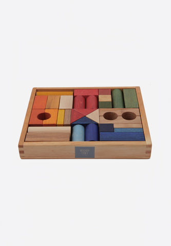Rainbow Blocks In Tray