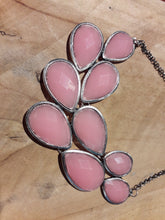 Load image into Gallery viewer, Pink Drop Cluster Necklace Pink