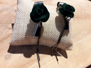 Rose Tag Earrings