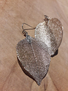 Natural Leaf Earrings Gold