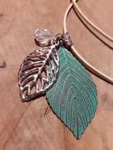 Load image into Gallery viewer, Green Leaf Necklace Gold