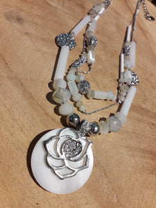 Moon Rose Necklace
