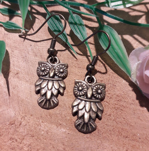 Copper Owl Earrings