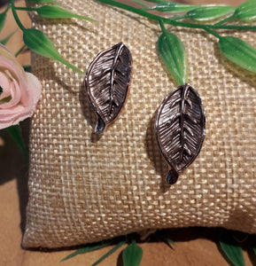 Leaf Earrings Brown