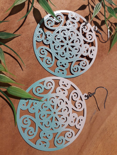 Ombre Mandala Earrings